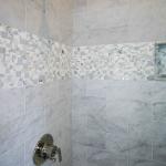 Bath decorative treatment in marble