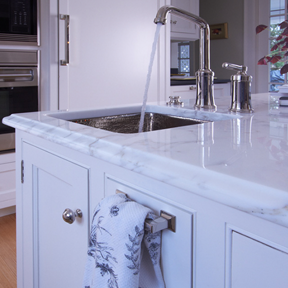 Marble edge detail with sink