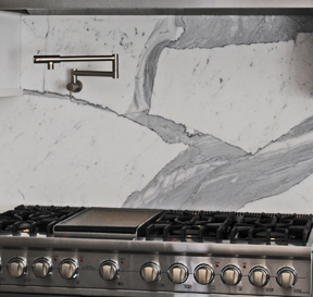 Calacatta Gold Marble Backsplash