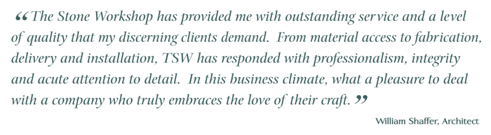 """""""outstanding quality and a level of service my discerning clients demand ..."""""""